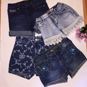 Lot Guess Justice Celebrity Pink Lei  Shorts Sz 12